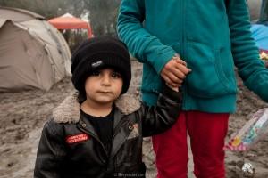 Voedsel en kleding voor vluchtelingen in Kamp Grand Synthe